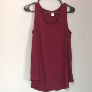 Old Navy Marroon tank top size S
